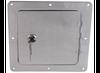 Ultra_fab_service_body_rv_truck_bed_universal_locking_fuel_fill_gas_filler_neck_housing_protector_bezel_bracket_access_door_polished_aluminum_stainless_chrome_square uf48-979010_48-979010_48979010  Ultra fab universal locking fuel fill gas filler neck housing protector bezel bracket access door polished aluminum stainless chrome square uf48-979010, 48-979010, 48979010