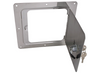 Ultra fab universal locking fuel fill gas filler neck housing protector bezel bracket access door polished aluminum stainless chrome square