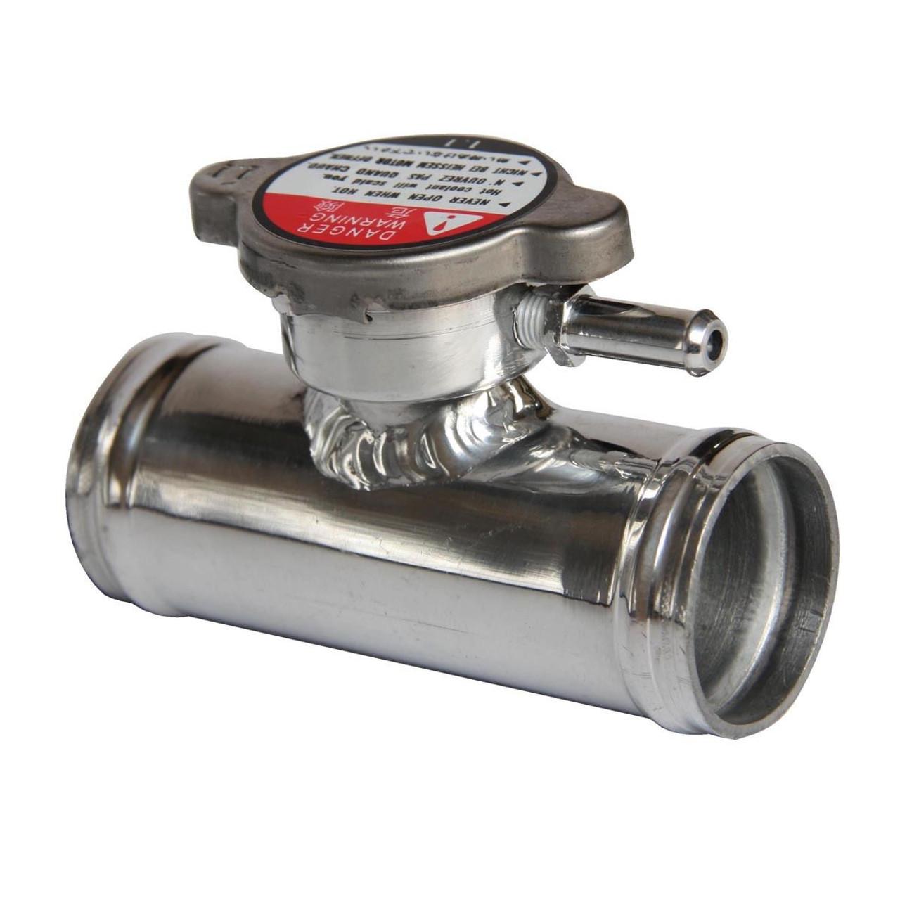 32mm 1 4 Billet Aluminum In Line Radiator Hose Filler Neck Cap Kia Coolant Connector Inlet Splice Straight Orfice Overflow Vent Tube 5