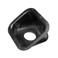 Square Plastic Fuel Filler Neck Protector / Dish / Bezel 42 Degree Housing