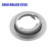 weld on filler neck with flange, cold rolled steel twist lock bayonet threads quarter turn cap style na-1375 na1375 1940 -1975 Scout 90 scout 800 travellal travelette pickup metro