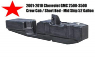 2001-2010 GM Crew Cab - Short Bed - TITAN XXL Fuel 7010201 52 GAL Tank