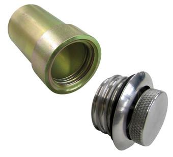 "Universal Fuel Filler Neck With pop up flush mount Cap 2"" Hose Connection tanks inc pu3c summit tnk-pu3c-"