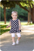 Sleeveless, peplum length twirl skirt
