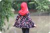 Long sleeves, standard back, peplum length twirl skirt