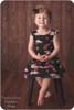 Sleeveless w/ flutters, basic back, knee length gathered skirt