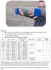 Pine Lake Pullover Yardage and Size Chart