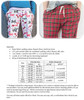 Hit the Hay Pajama Pants Size Chart