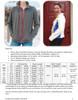 Cascade Fleece Jacket Size Chart
