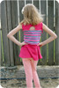 Peplum Tank with Cut-Out Back