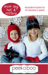 Snow Day Hat & Mittens sewing pattern