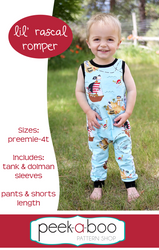 Lil' Rascal Romper Sewing Pattern