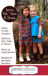 Sierra Top, Tunic, and Dress PDF Sewing Pattern