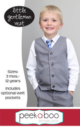 Little Gentleman Vest sewing pattern