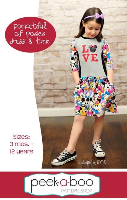 Pocketful of Posies dress and tunic pattern