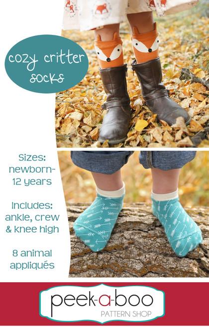 Cozy Critter Socks - Peek-a-Boo Pattern Shop