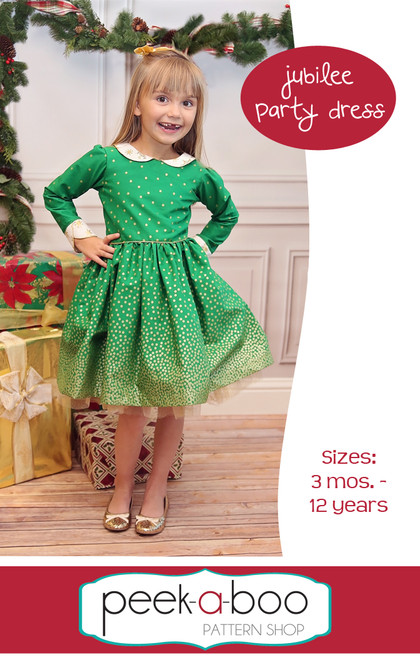 Jubilee Party Dress - Peek-a-Boo Pattern Shop