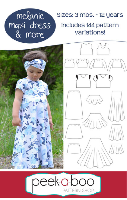 Melanie Maxi Dress & More - Peek-a-Boo Pattern Shop