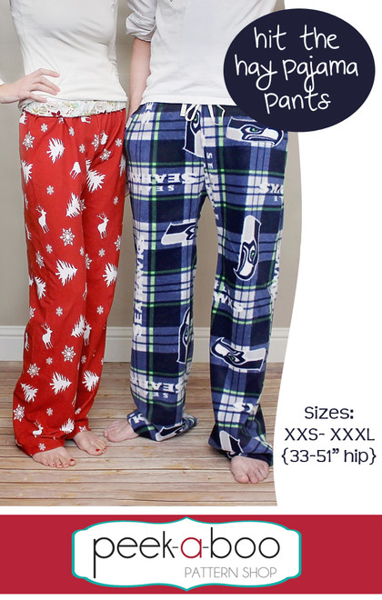 Hit the Hay Pajama Pants Sewing Pattern | Peek-a-Boo Pattern Shop