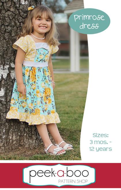 Primrose Dress Sewing Pattern   Peek-a-Boo Pattern Shop