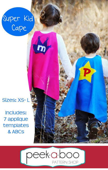 Super Kid Cape PDF Sewing Pattern Enchanting Toddler Cape Pattern