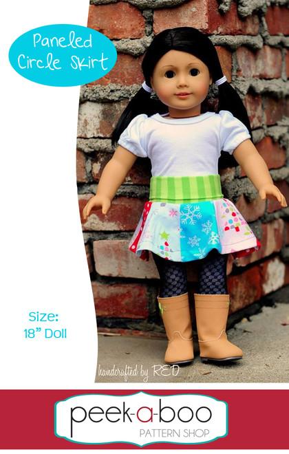 Paneled Circle Skirt for Dolly