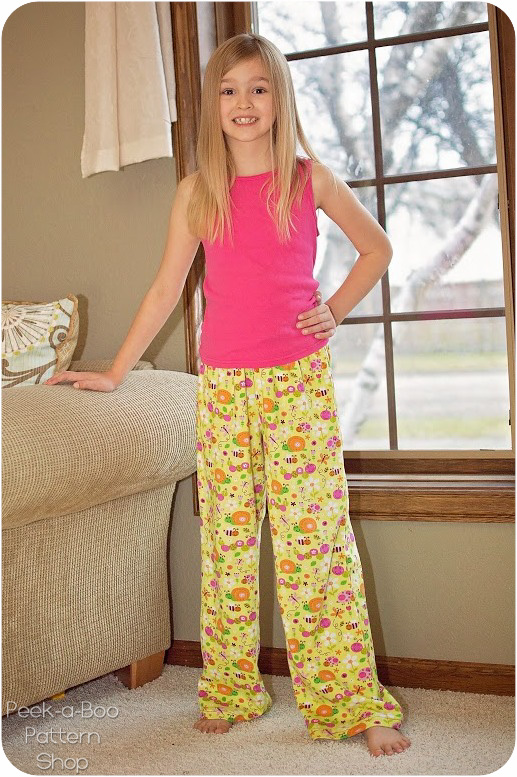 Pajama Party Pants Peek A Boo Pattern Shop