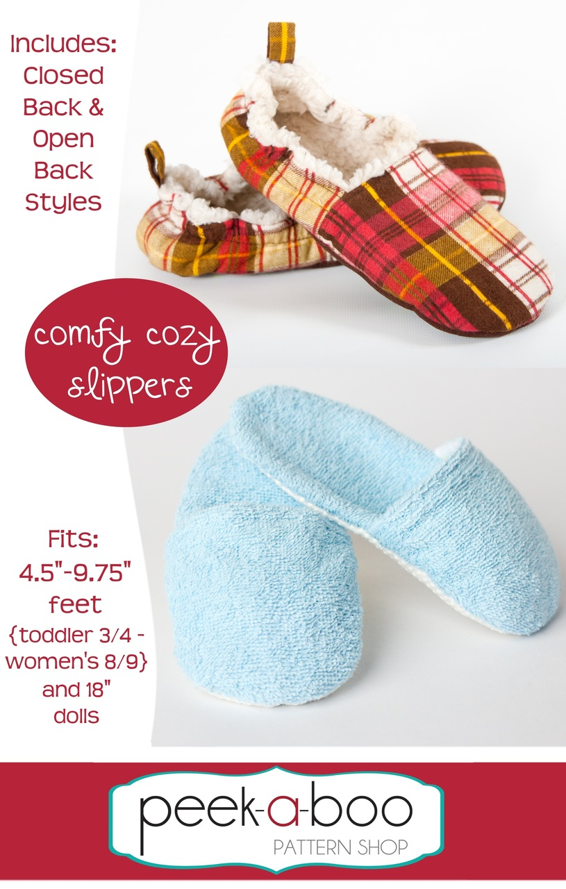 Comfy Cozy Slippers Pdf Sewing Pattern
