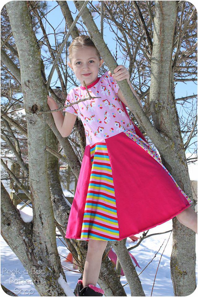 Little Miss Sunshine Dress Amp Tee Peek A Boo Pattern Shop