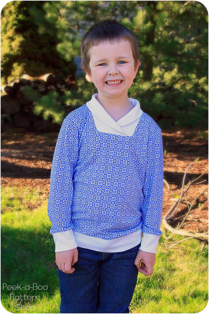 Varsity Cowl Neck Pullover PDF Sewing Pattern
