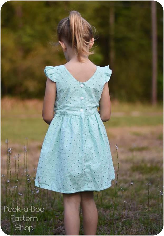 Wildflower Dress PeekaBoo Pattern Shop Simple Peekaboo Patterns