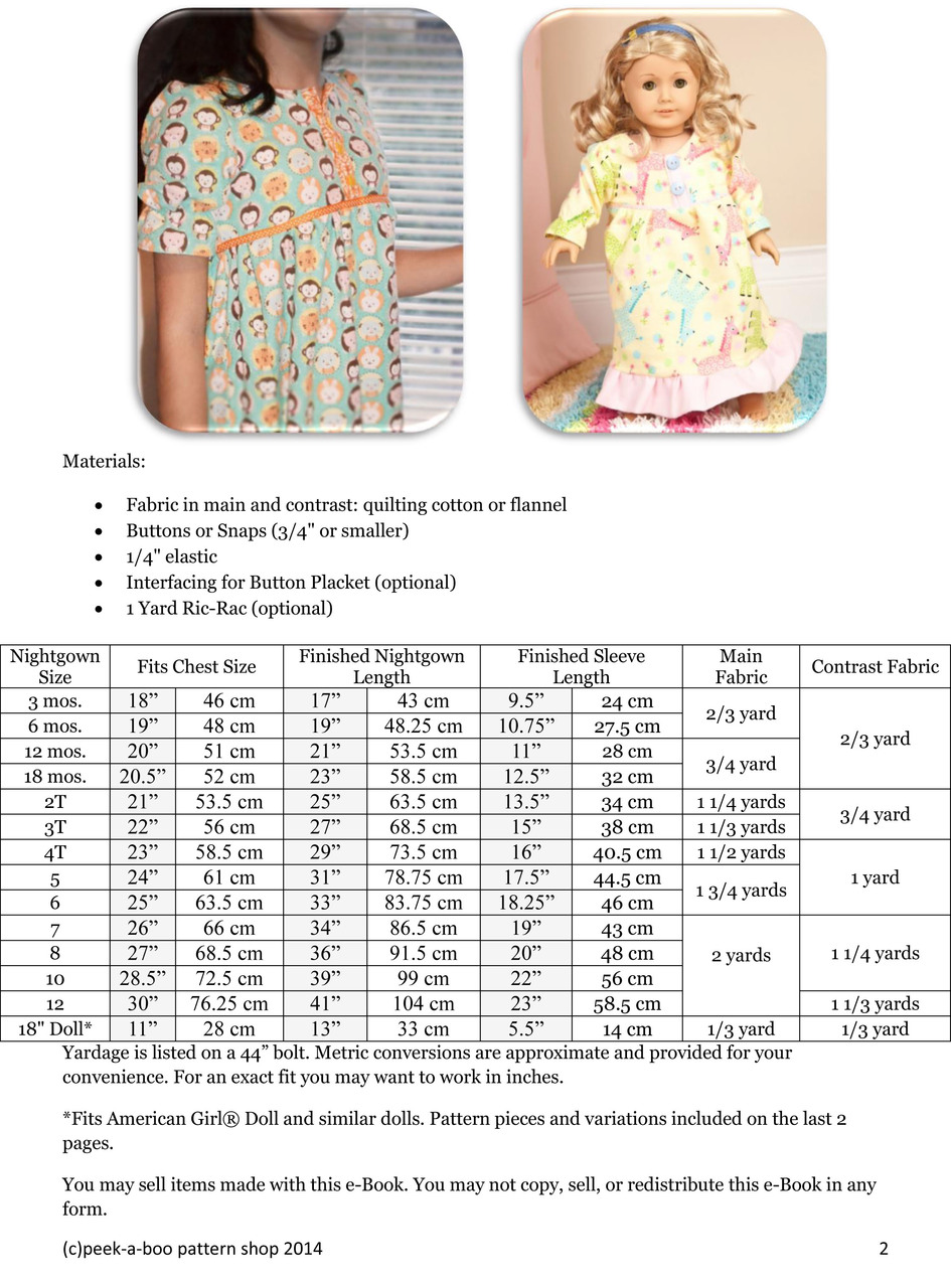 Nightgown Patterns Interesting Decorating
