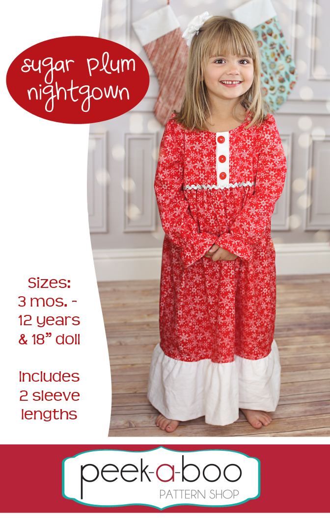 Sugar Plum Nightgown PDF Sewing Pattern