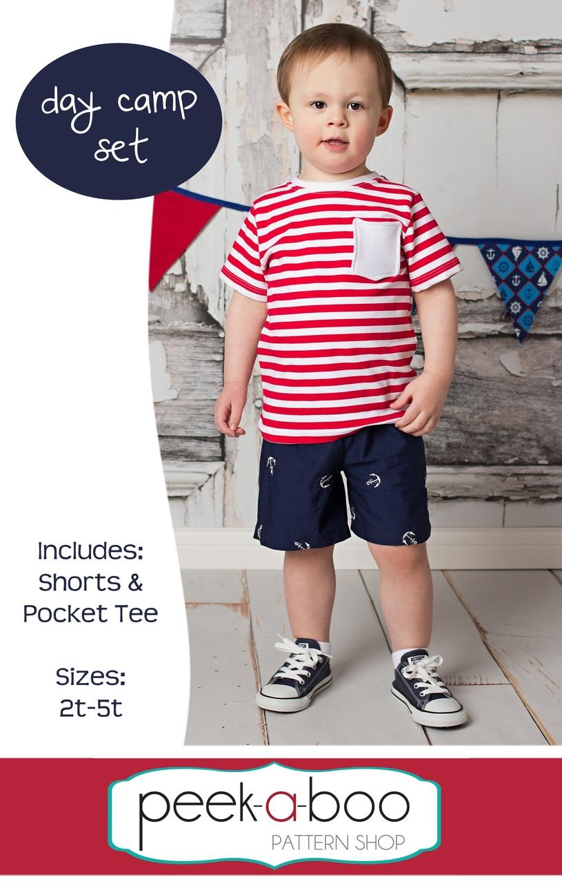 Free shorts t shirt pdf sewing pattern day camp set day camp set free shorts pattern free t shirt pattern jeuxipadfo Images