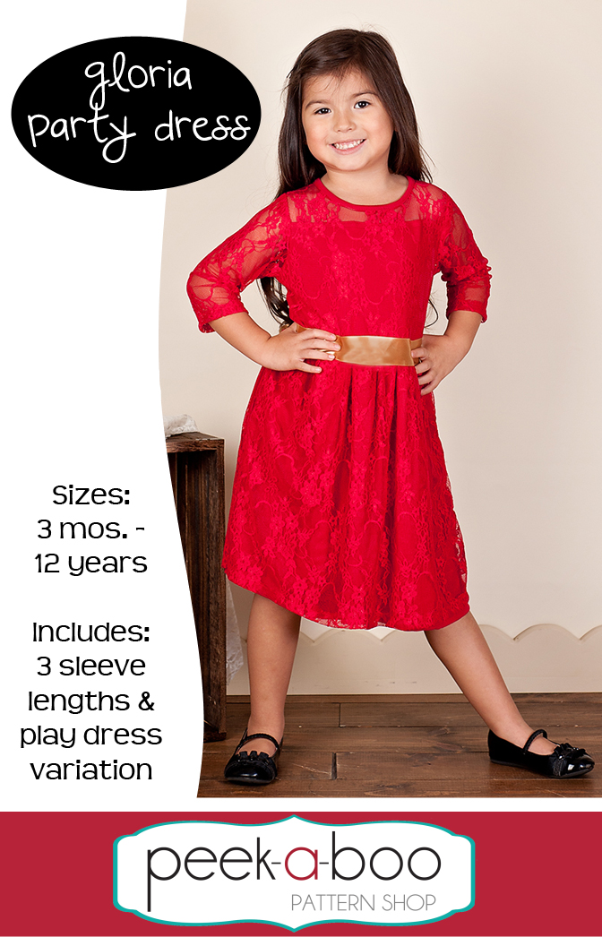 Gloria Party Dress PDF Sewing Pattern