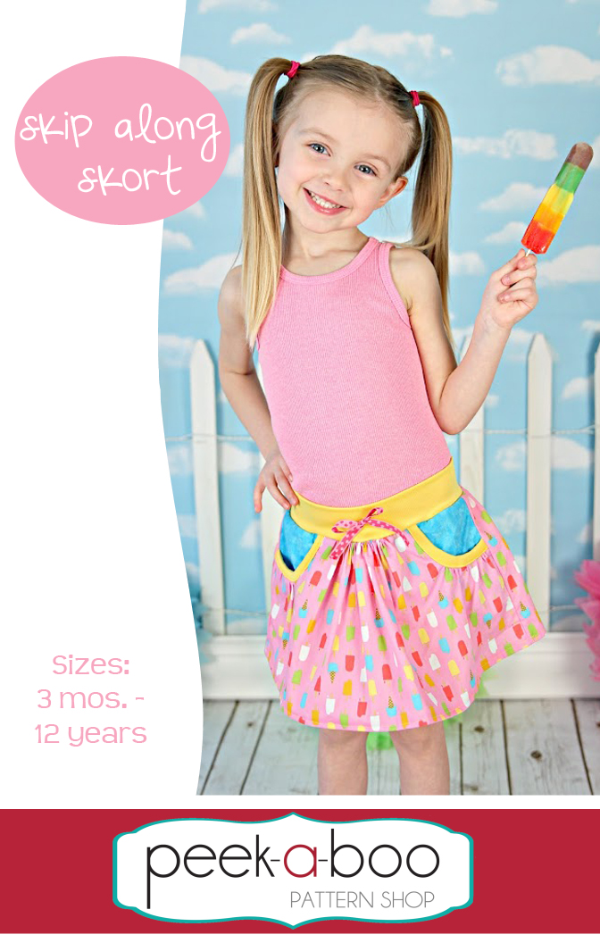 Skip Along Skort Sewing Pattern | Peek-a-Boo Pattern Shop