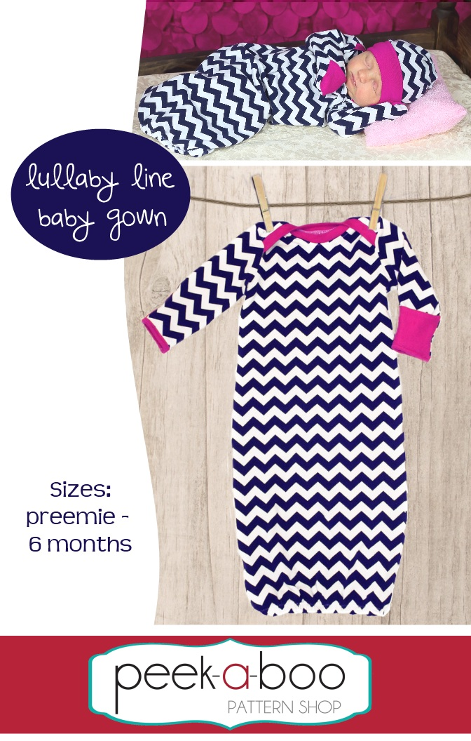 Lullaby Line Baby Gown PDF Sewing Pattern