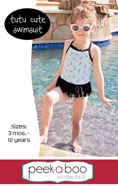 Tutu Cute Swimsuit Peek A Boo Pattern Shop