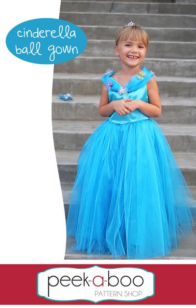 Cinderella Ball Gown - Peek-a-Boo Pattern Shop