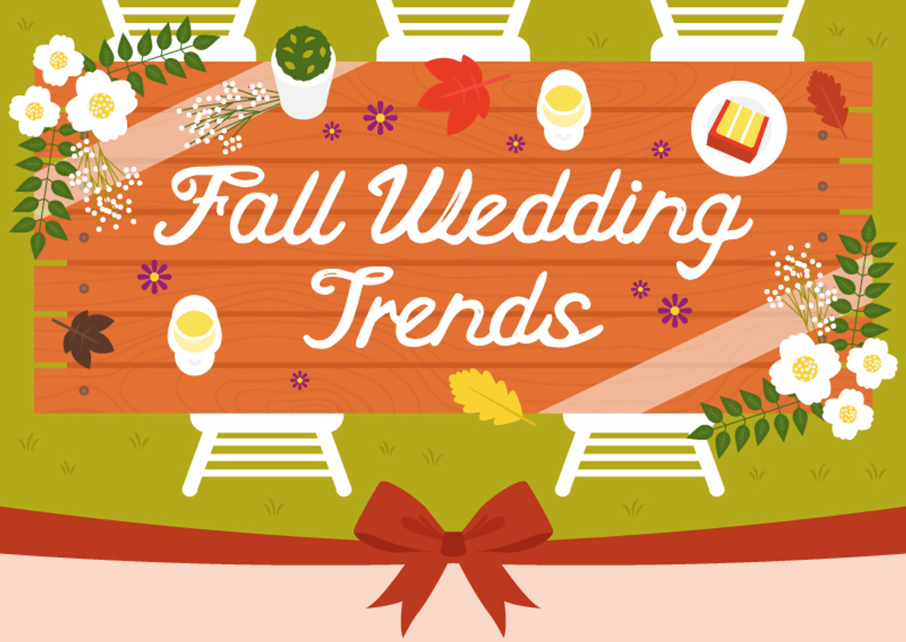 Fall Wedding Trends (Infographic)