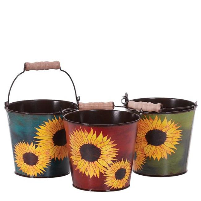 """Fall Asst Sunflower Metal Tins 4.25"""" each"""