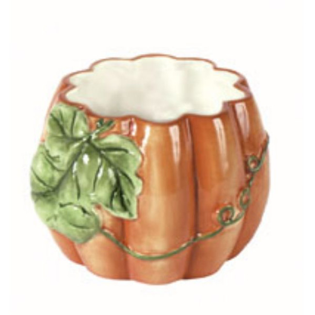 Ceramic Pumpkin Planter 4.25'X 4 each