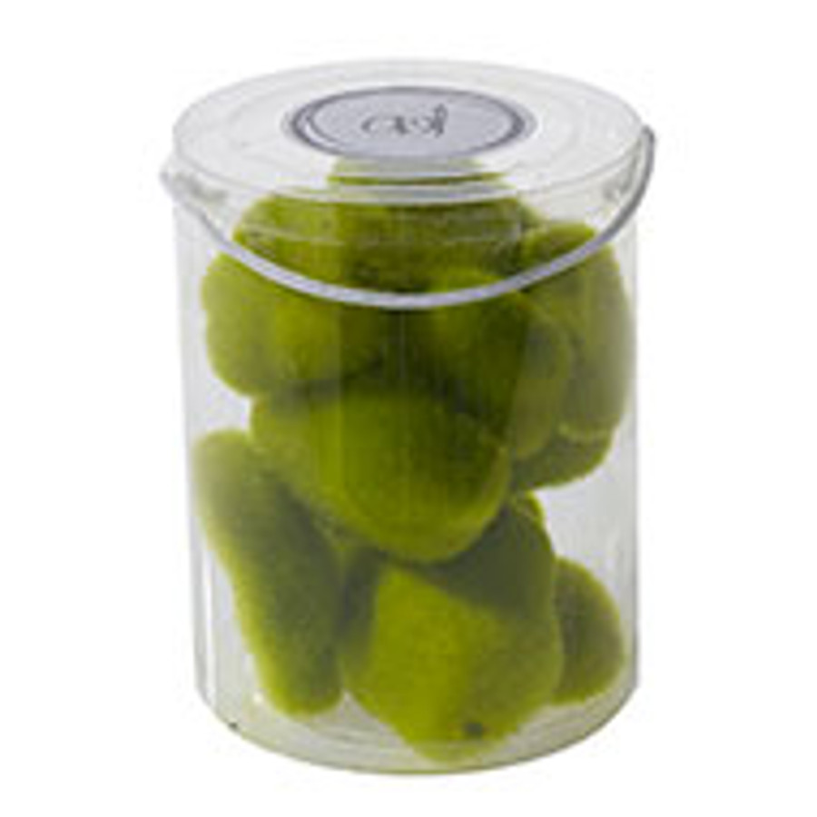 MOSS CHUNKS, 12PC SPRING GREEN