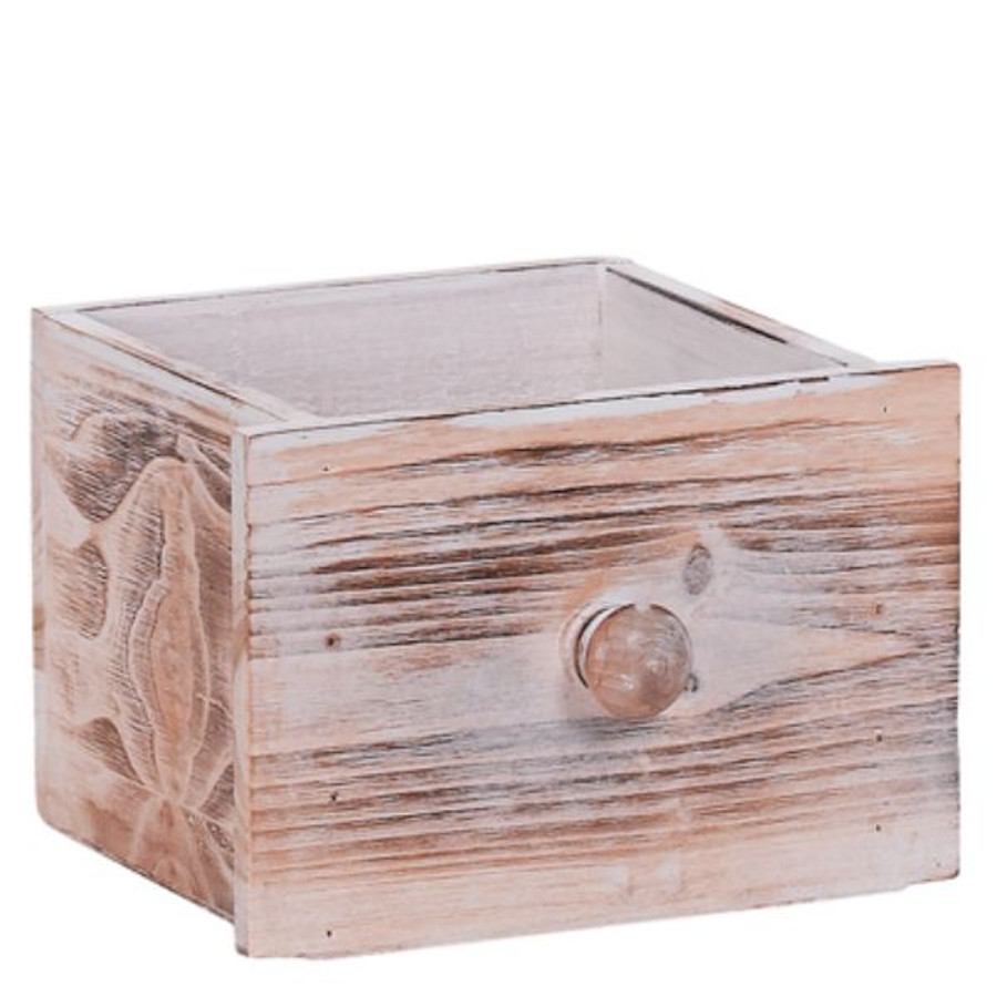 """Wooden drawer, Square 4.75""""x4.25"""" each"""