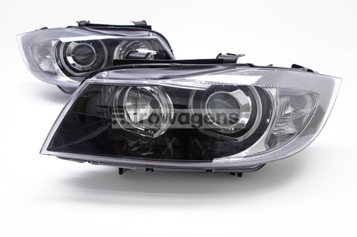 BMW 3 Series E90 & E91 Angel Eye headlights Set (Black)