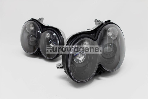 Headlights set black projector Mercedes CLK W209 03-08