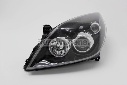 Headlight left black Vauxhall Vectra C Signum 05-09