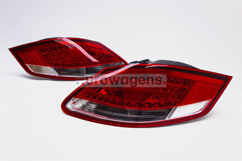Rear lights set red clear LED Porsche Boxster Cayman