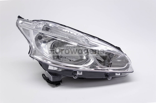 Headlight right Peugeot 208 12-15