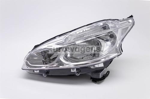 Headlight left Peugeot 208 12-15